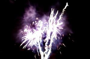 Purple firework explosion